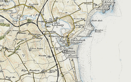 Old map of Alnmouth in 1901-1903