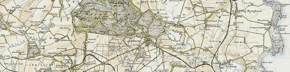 Old map of Abbeylands in 1901-1903