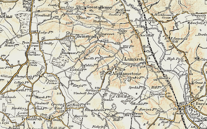 Old map of Alphamstone in 1898-1901