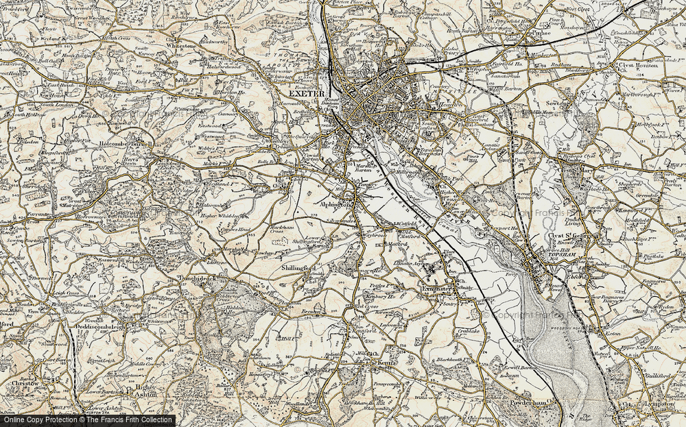 Old Map of Alphington, 1899 in 1899