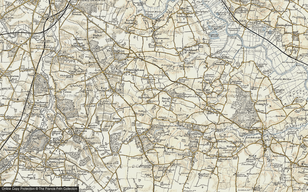 Old Map of Alpington, 1901-1902 in 1901-1902