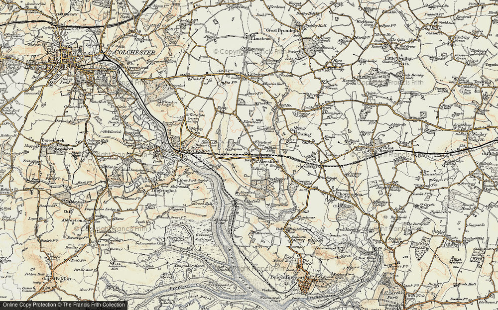 Old Map of Alresford, 1898-1899 in 1898-1899