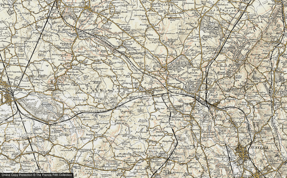 Old Map of Alsager, 1902-1903 in 1902-1903