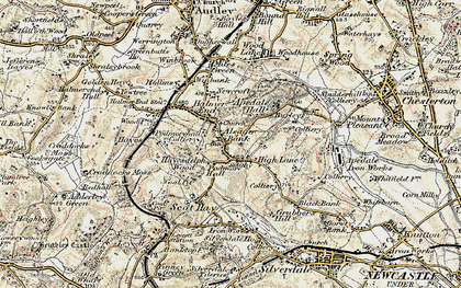 Old map of Alsagers Bank in 1902