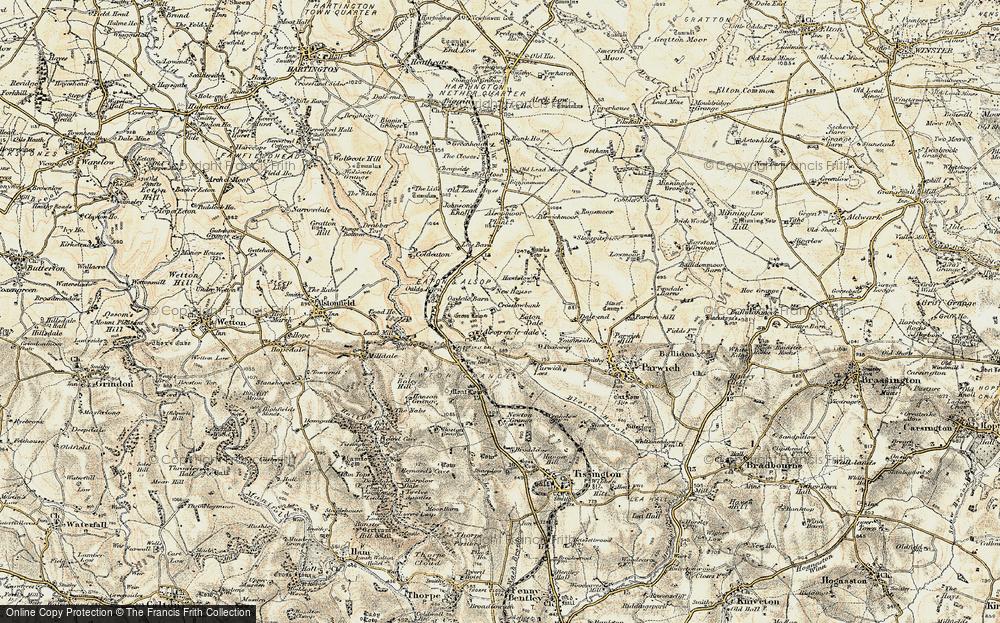 Old Map of Alsop en le Dale, 1902-1903 in 1902-1903