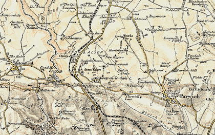 Old map of Tissington Trail in 1902-1903