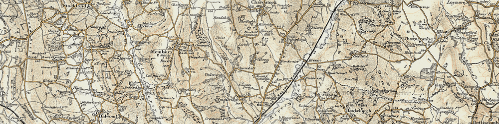 Old map of Alston in 1898-1899