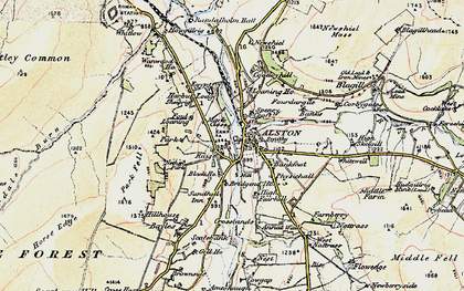 Old map of Bankfoot in 1901-1904