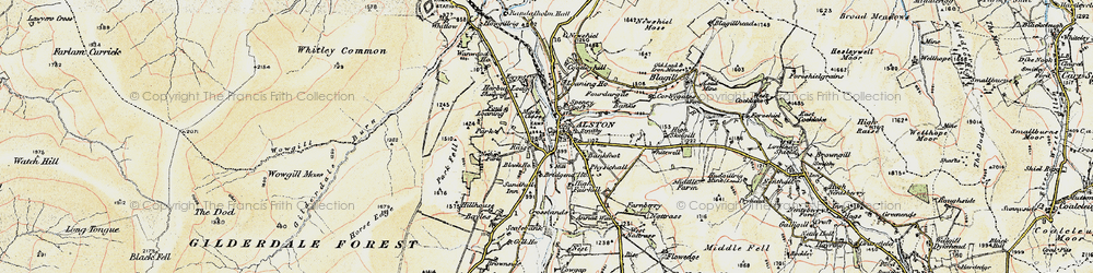 Old map of Alston in 1901-1904