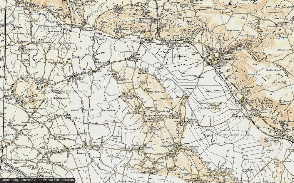 Old Map of Alston Sutton, 1899-1900 in 1899-1900