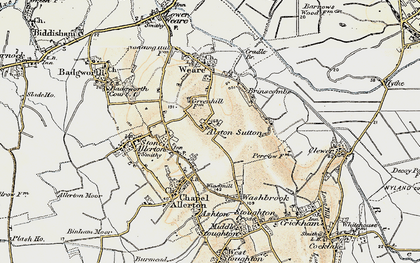 Old map of Alston Sutton in 1899-1900