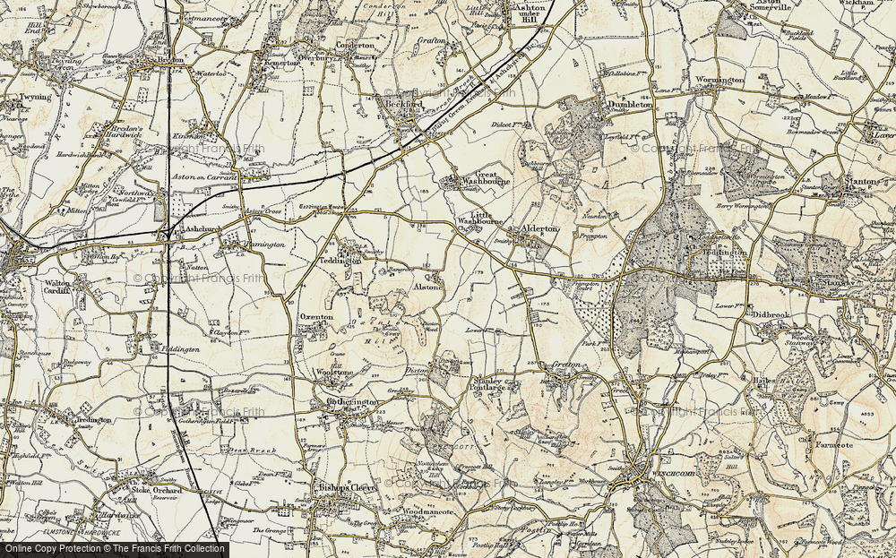 Old Map of Alstone, 1899-1900 in 1899-1900