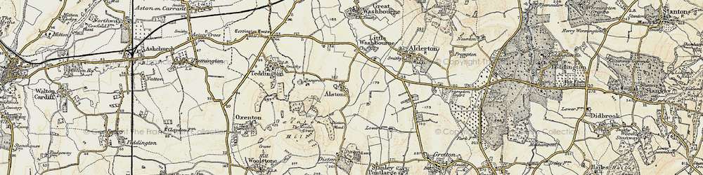 Old map of Alstone in 1899-1900