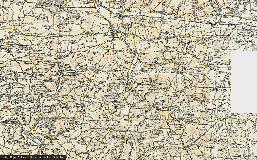 Old Map of Alswear, 1899-1900 in 1899-1900