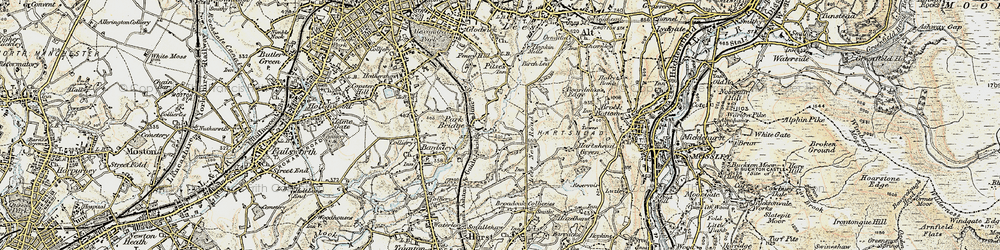 Old map of Alt Hill in 1903