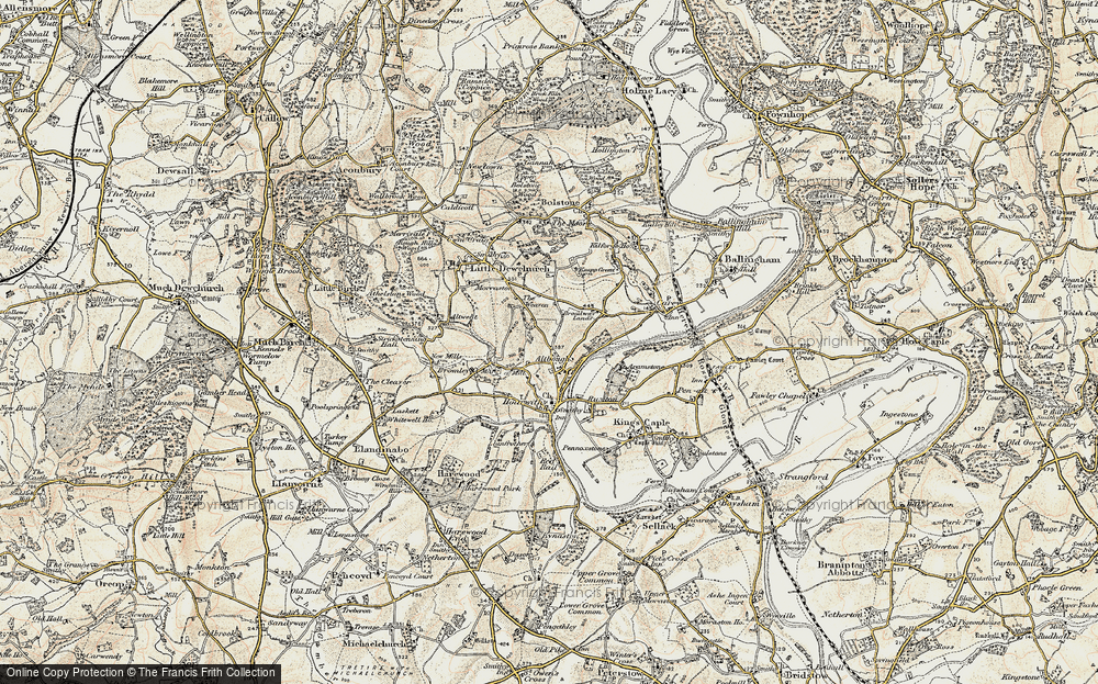 Old Map of Altbough, 1899-1900 in 1899-1900