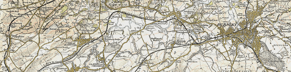Old map of Altham in 1903