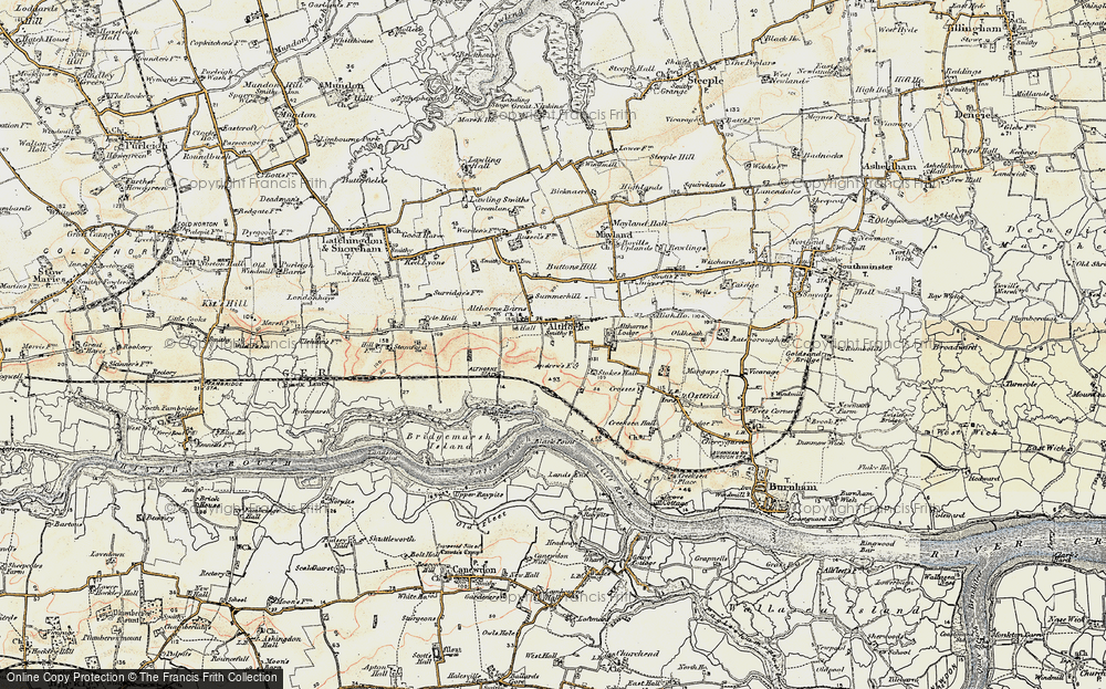 Old Map of Althorne, 1898 in 1898