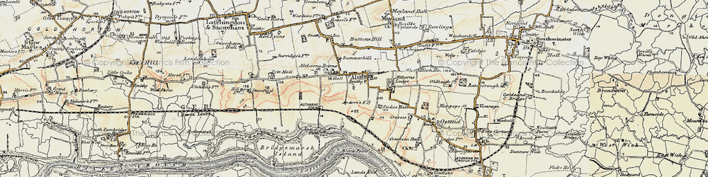 Old map of Althorne Sta in 1898