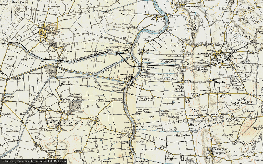 Old Map of Althorpe, 1903 in 1903