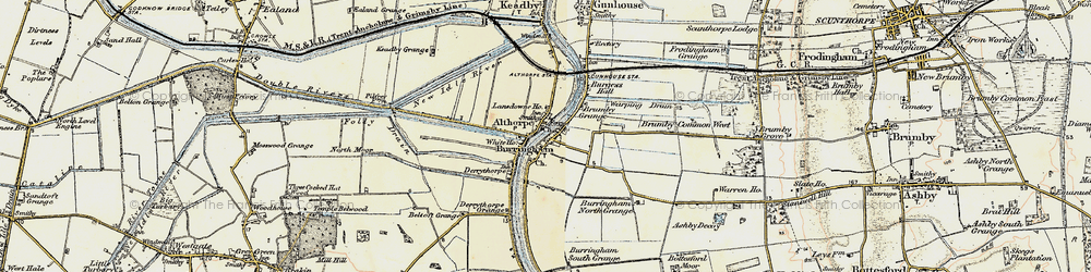 Old map of Althorpe in 1903