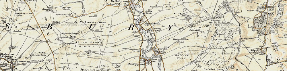 Old map of Alton in 1897-1899