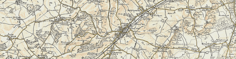 Old map of Alton in 1897-1909