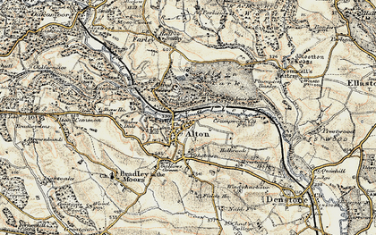 Old map of Alton Towers in 1902