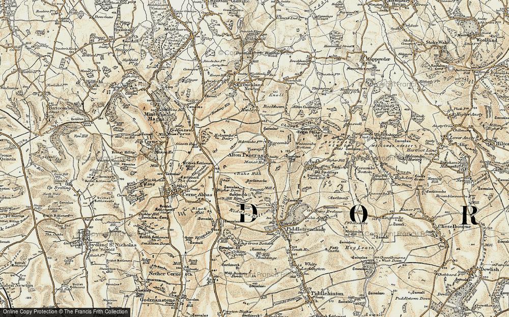 Old Map of Alton Pancras, 1899 in 1899