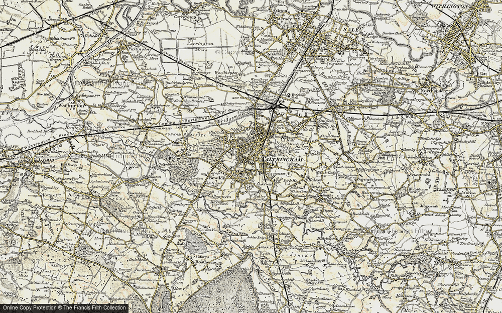 Old Map of Altrincham, 1903 in 1903