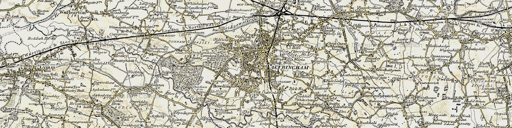 Old map of Altrincham in 1903