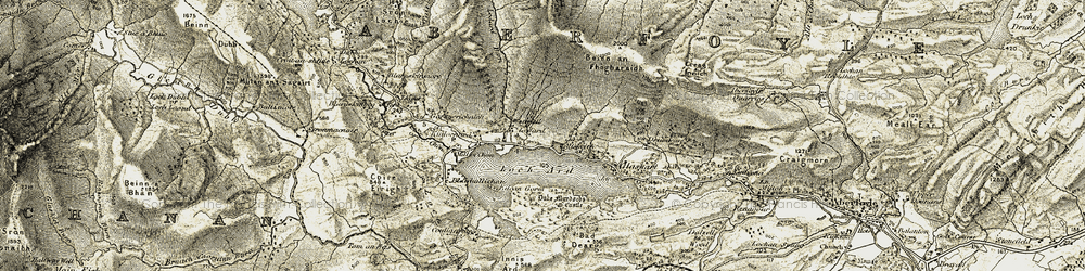 Old map of Altskeith in 1905-1907