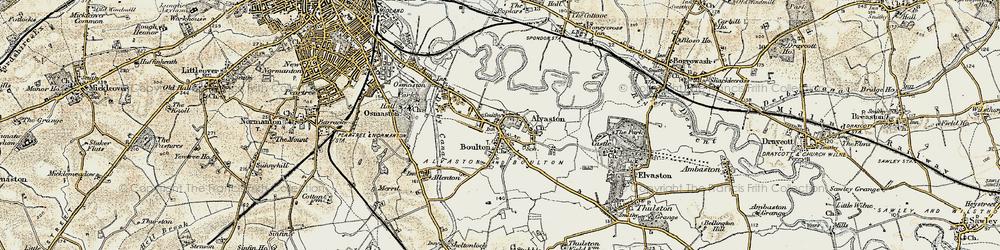 Old map of Alvaston in 1902-1903