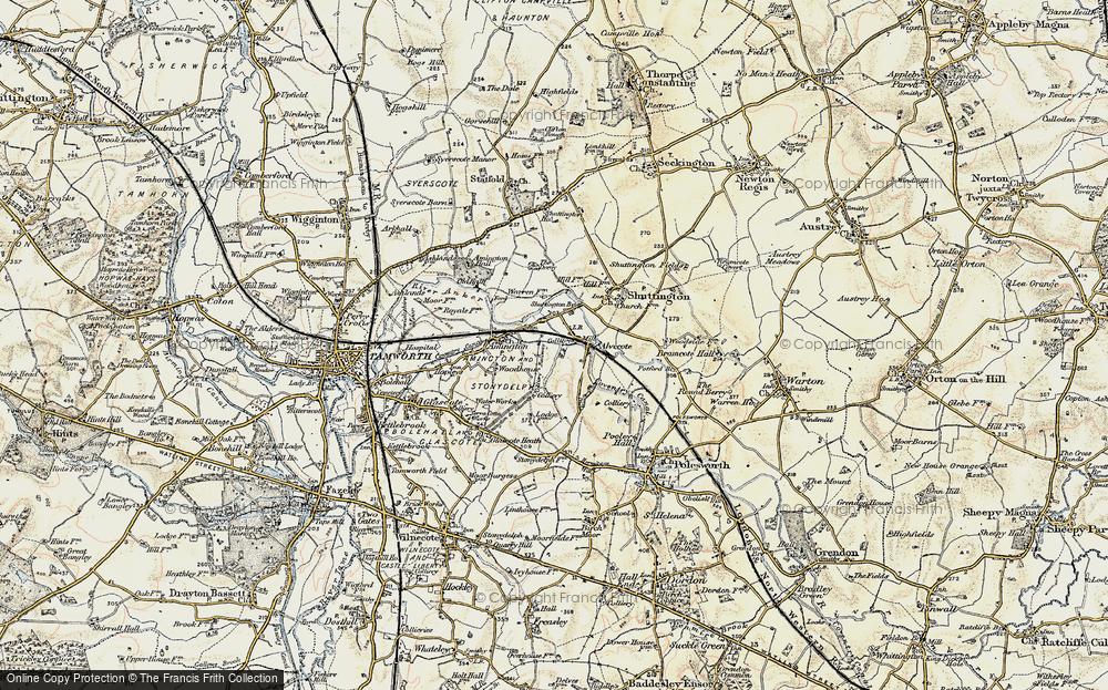 Old Map of Alvecote, 1901-1902 in 1901-1902