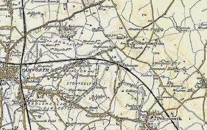 Old map of Alvecote in 1901-1902