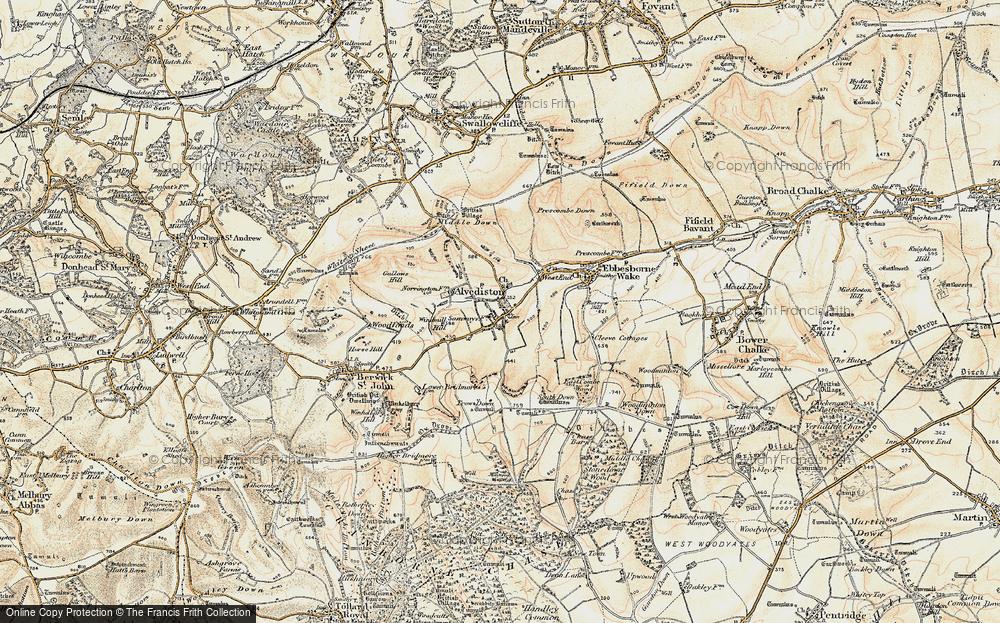 Old Map of Alvediston, 1897-1909 in 1897-1909