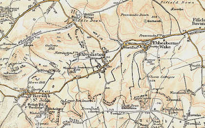 Old map of Alvediston in 1897-1909