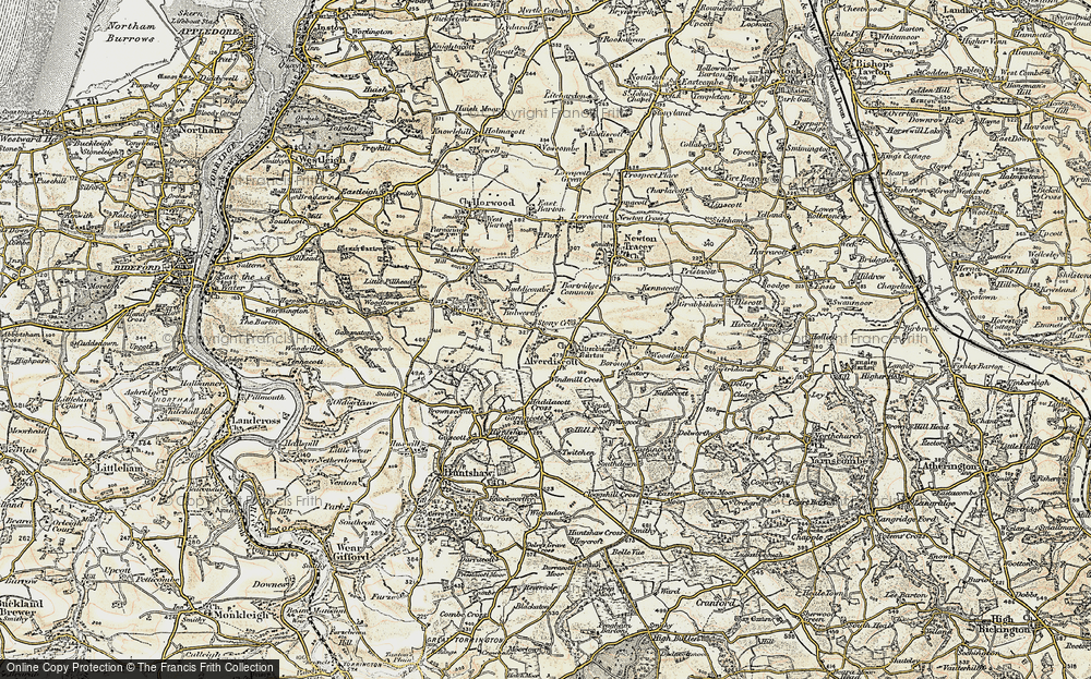 Old Map of Alverdiscott, 1899-1900 in 1899-1900