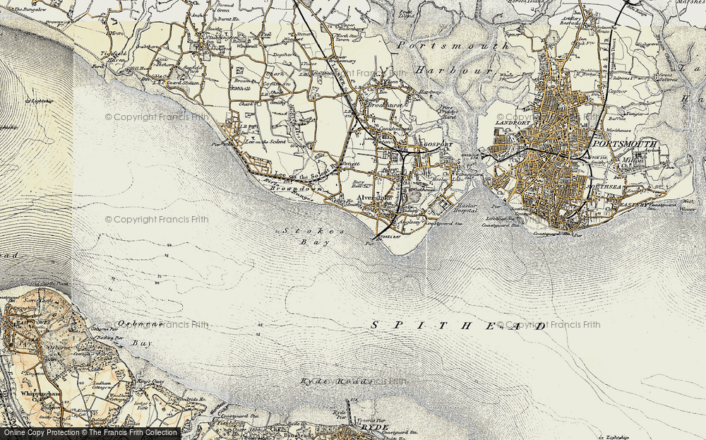Old Map of Alverstoke, 1897-1899 in 1897-1899