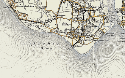 Old map of Alverstoke in 1897-1899
