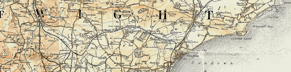 Old map of Alverstone in 1899