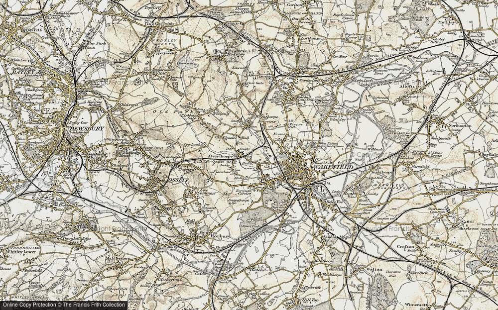 Old Map of Alverthorpe, 1903 in 1903