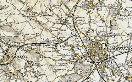 Old map of Alverthorpe in 1903