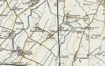 Old map of Alverton in 1902-1903