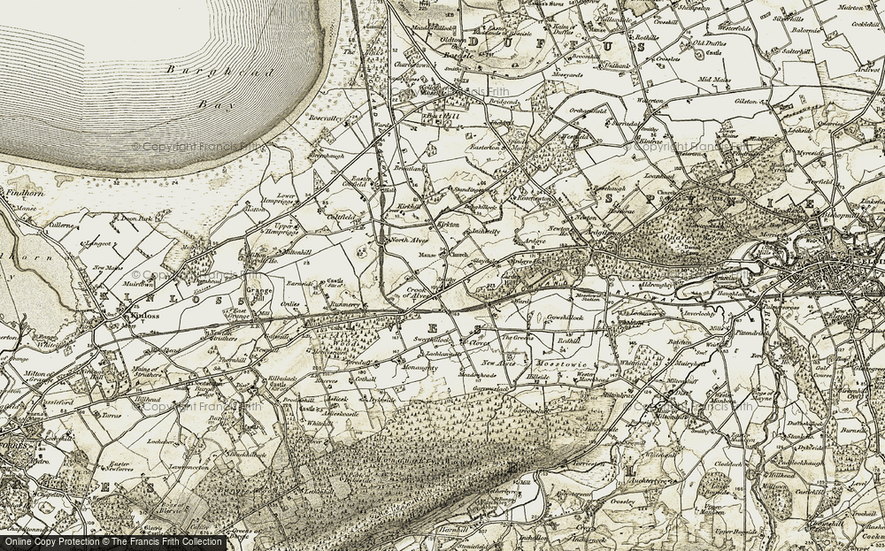 Old Map of Alves, 1910-1911 in 1910-1911
