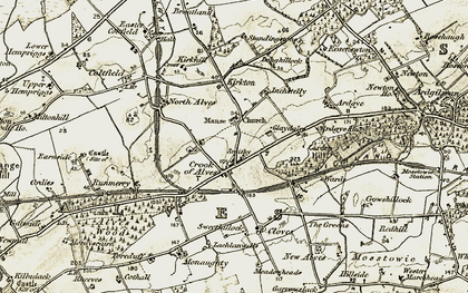 Old map of Alves in 1910-1911