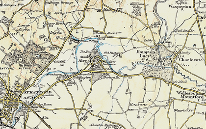Old map of Alveston in 1899-1902