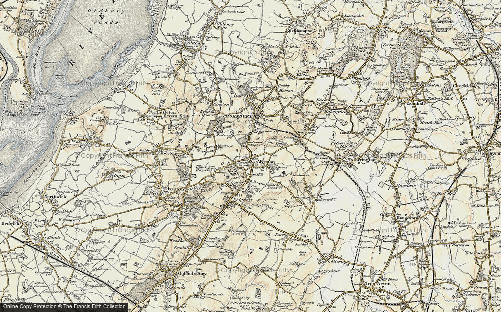 Old Map of Alveston, 1899 in 1899