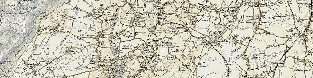 Old map of Alveston in 1899