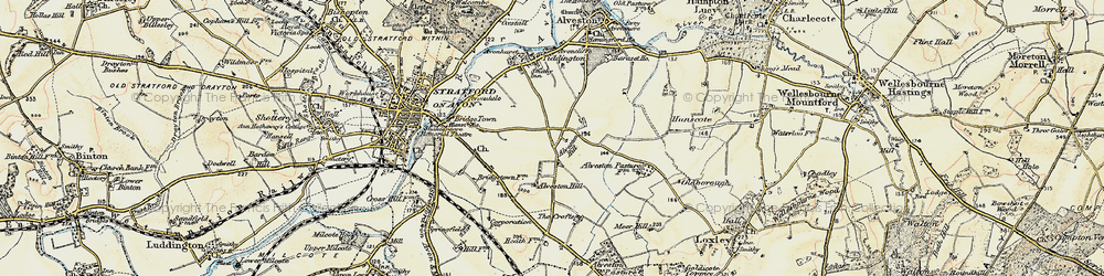 Old map of Alveston Hill in 1899-1902